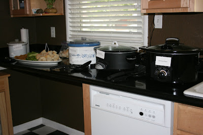 Line your countertops with crockpots during your next party so you can get out of the kitchen and enjoy your guests!