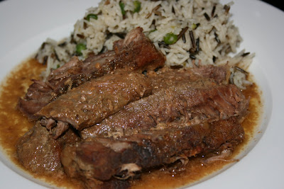 moist and delicious 4 ingredient A1 Steak Sauce Steak in the CrockPot Slow Cooker