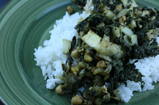 How to make Indian Spinach and Tofu -- this is a crockpot recipe -- it tastes just like take out!