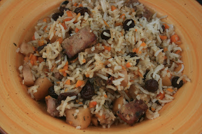 Autumn Sausage Casserole made in the crockpot slow cooker.