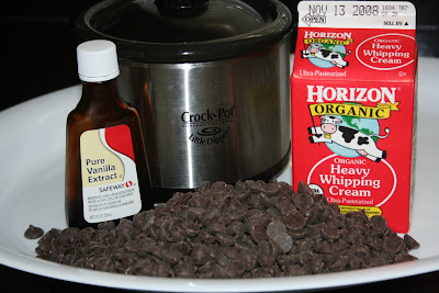 These are the ingredients you need to make an easy crockpot fondue at home