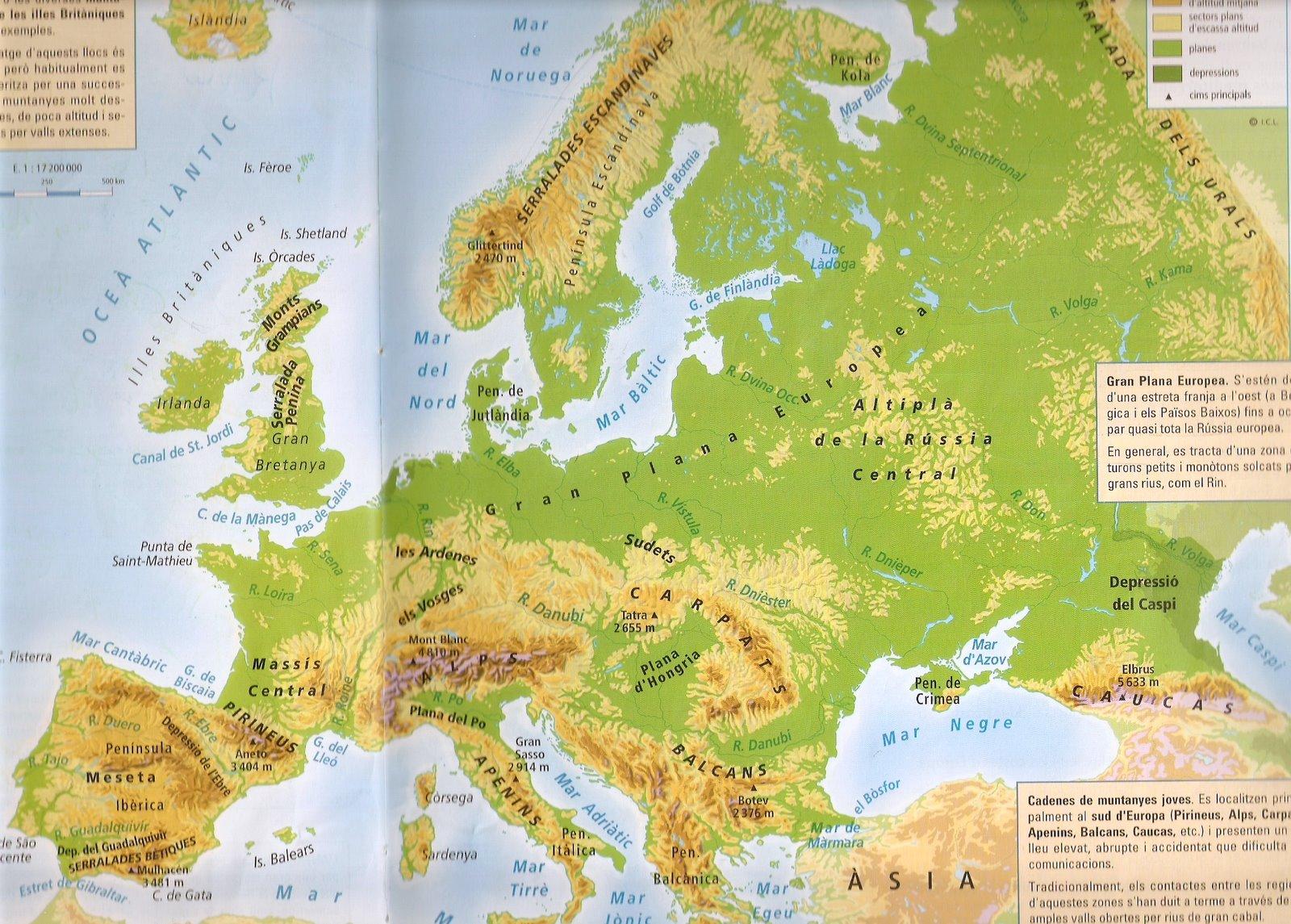 Mapa Fisic D Europa Rius.Socials Amb Na Nika Mapa Del Relleu I Els Rius D Europa