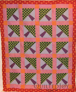 Fassett in the Forest Quilt - QuiltedJoy.com