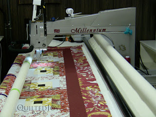 Quilt on the APQS Millie Frame - QuiltedJoy.com