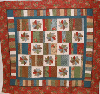 Sarah's Rose Garden quilt with custom quilting by Angela Huffman - QuiltedJoy.com