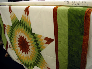 Lone Star quilt on the APQS Millie frame - QuiltedJoy.com