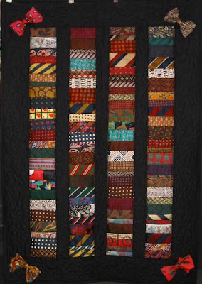 Tie Memorial Quilt, quilted by Angela Huffman