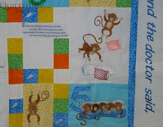 5 little monkeys quilt waiting in the wings