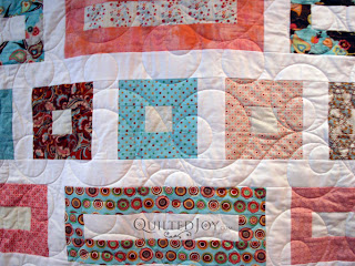 Jill's I'm Blushing quilt with Double Bubble Pantograph - QuiltedJoy.com