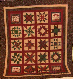 Arline's Block of the Month, quilted by Angela Huffman