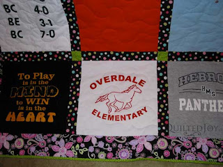 Graduation Gift T-Shirt quilt, by Angela Huffman