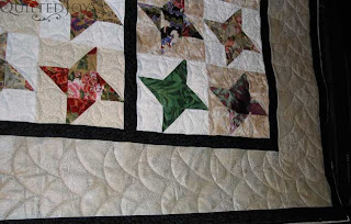 Friendship Stars, quilted by Angela Huffman