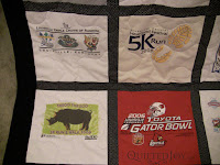 T-Shirt Quilt for a UofL fan by Angela Huffman - QuiltedJoy.com