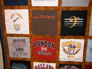 Christmas gift T-shirt Quilt by Angela Huffman - QuiltedJoy.com