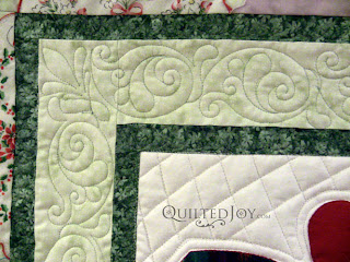 Hankie Lady Obsession Quilt with custom quilting by Angela Huffman - QuiltedJoy.com