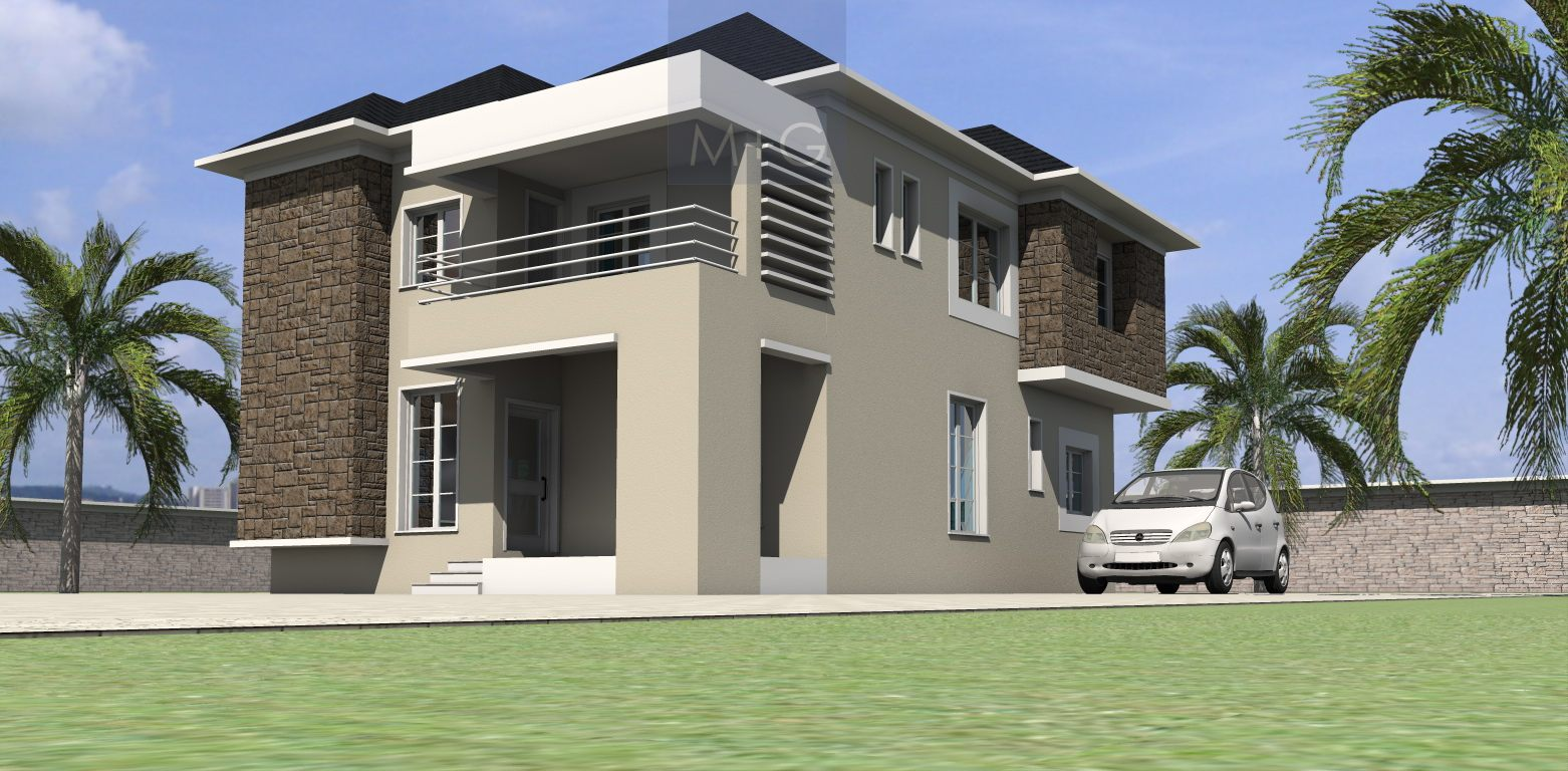 Modern 4 bedroom duplex designs for Nigeria house plans