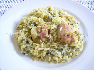 Trini bhaji rice