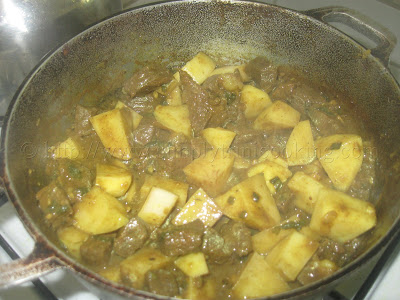 Rice and Curry Beef with Potatoes