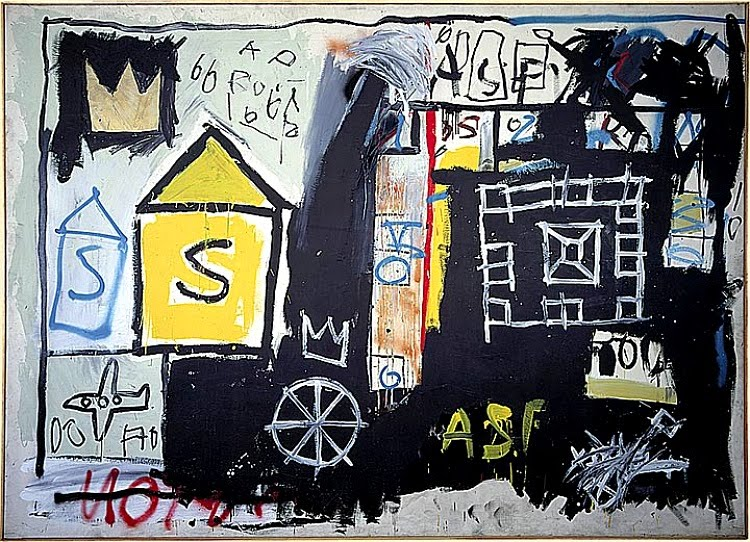 2c8e2812e97ec Untitled 1981. Acrylic and spray paint on canvas. Collection of Annina Nosei