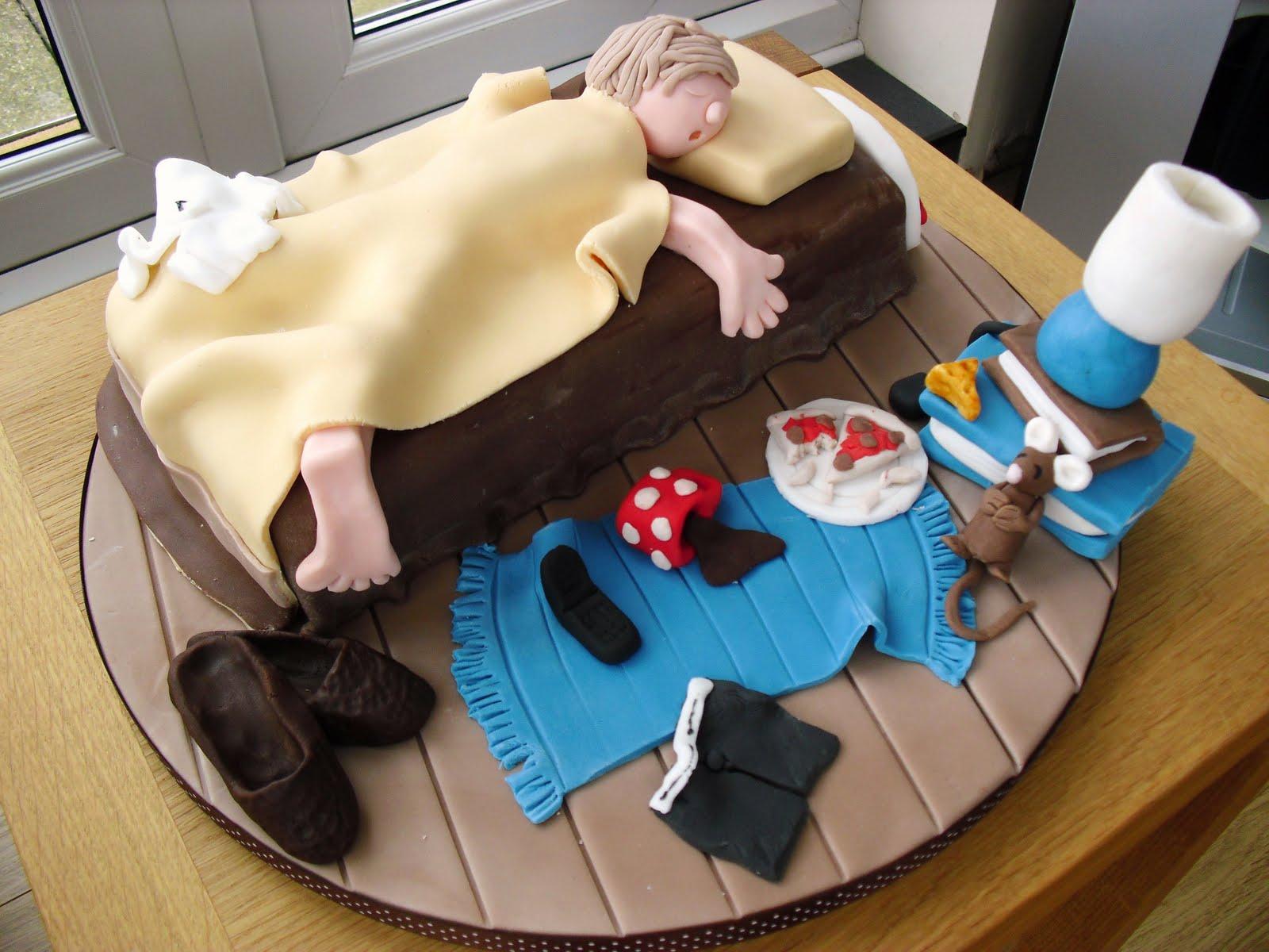 Cake Walk Messy Bedroom Cake