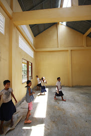 Cambodian Kids Explore their New School