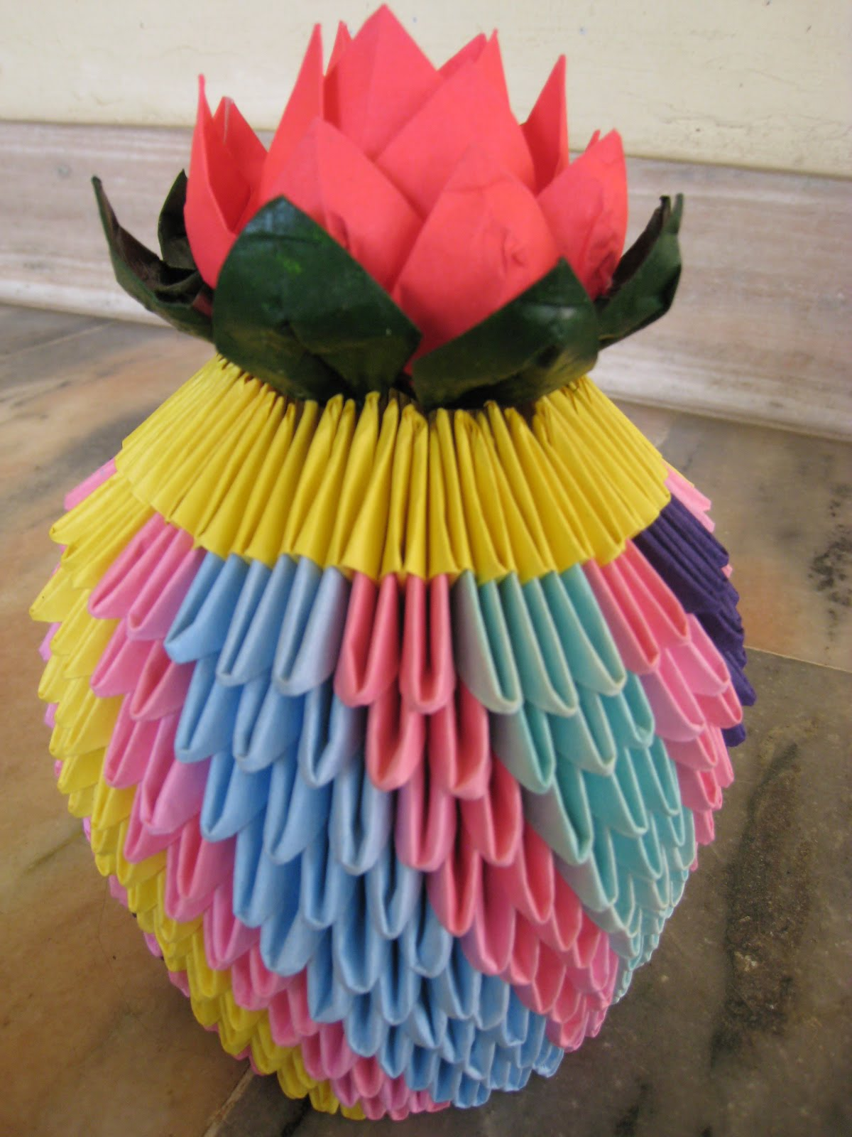 Art 3d Origami Flower Pot