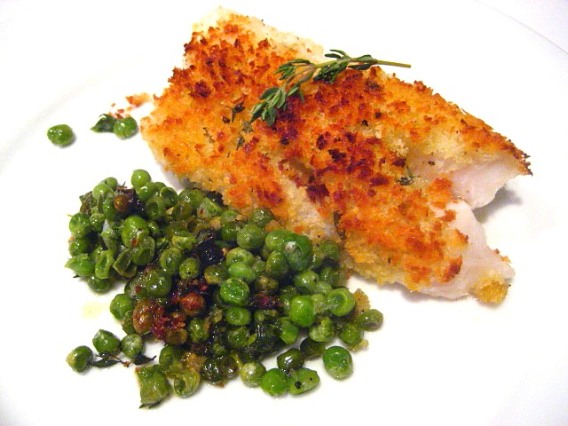 Wow Roasted Cod On Peas