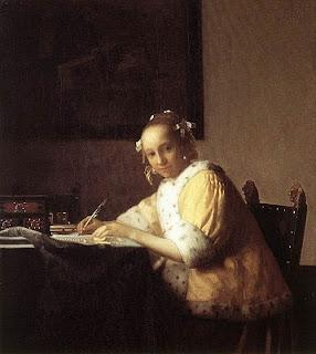 quadro vermeer donna che scrive