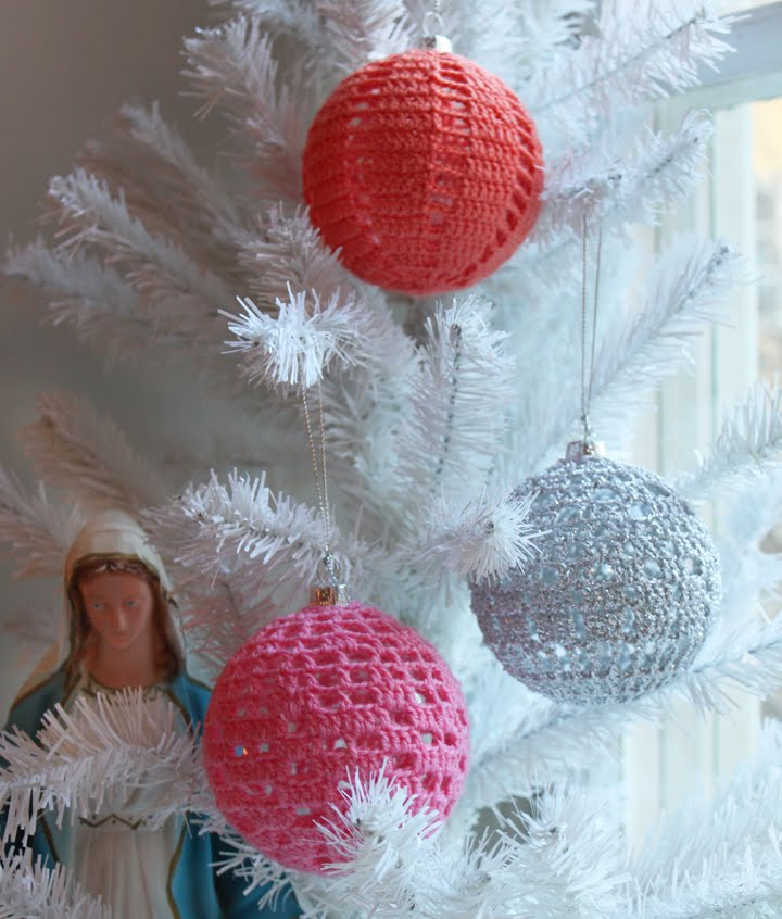 For The Love Of Crochet Along Crocheted Christmas Decorations
