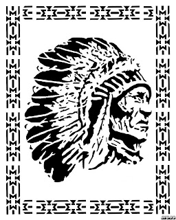 Free Scroll Saw Patterns by Arpop: Indian Chief with
