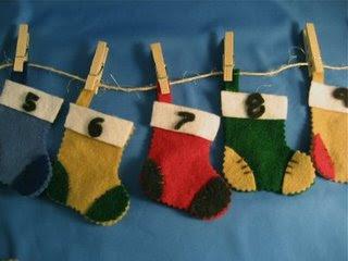 Advent Calendar Mini Stockings
