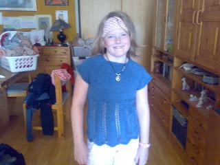 strikket pige top