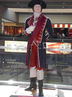 George Washington welcomes the visitors at Pittsburgh International Airport