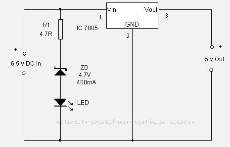 CIRCUIT: 7805 Regulator IC Circuits