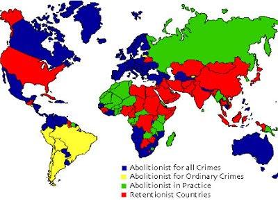 Thực tế áp dụng hình phạt tử hình trên thế giới