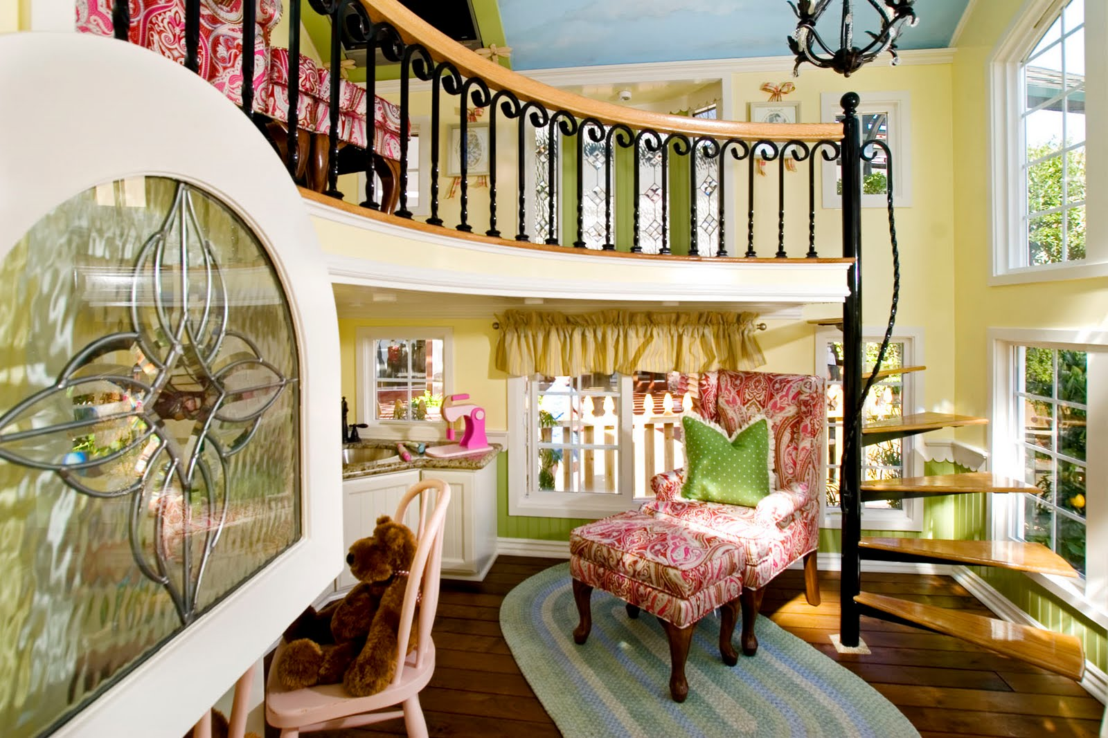 playhouse child friendly interior surfaces | Woodwork Playhouse Interior Design PDF Plans