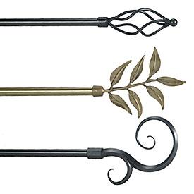 curtain rods decorative bestcurtains - Decorative Curtain Rods