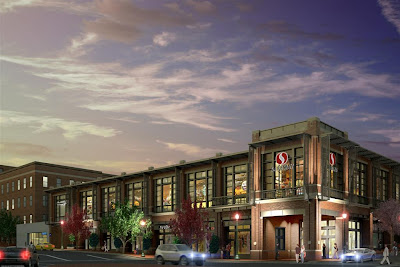 Georgetown, Washington DC - new Safeway grocery opens on Wisconsin Avenue, designed by Torti Gallas