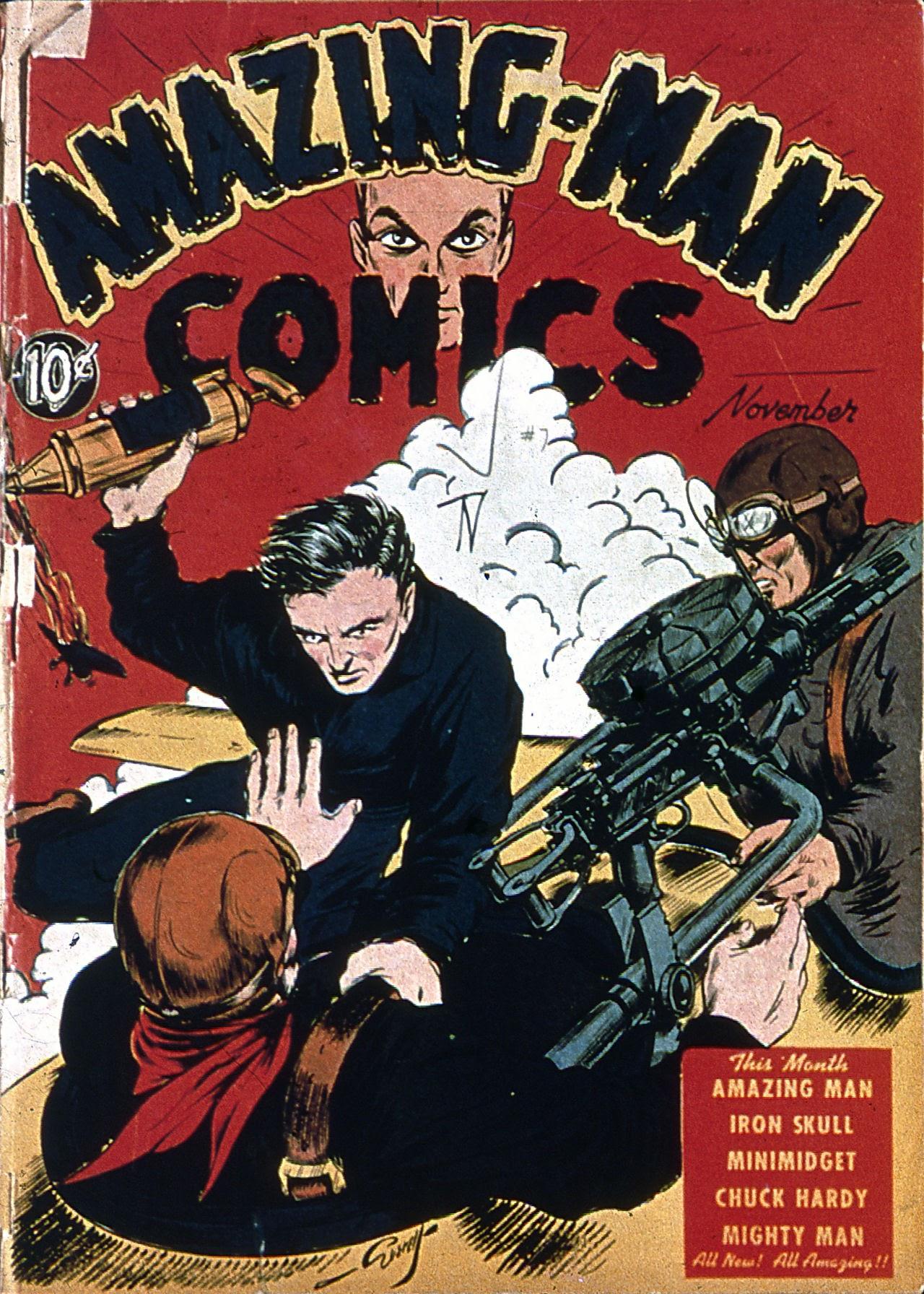 Read online Amazing Man Comics comic -  Issue #7 - 1