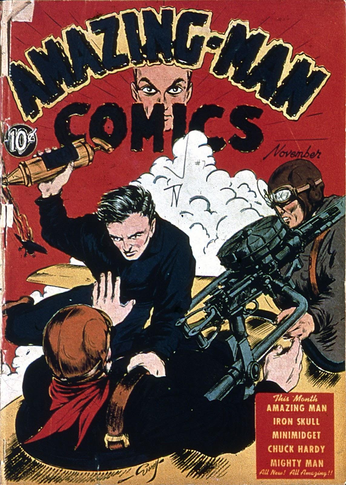 Amazing Man Comics issue 7 - Page 1