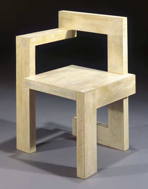 Silla steltman de gerrit rietveld arquitectura y dise o for Disenos de zapateras de madera