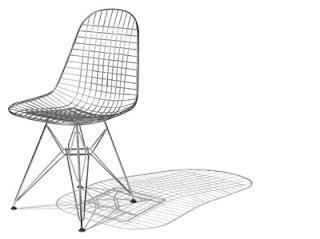 Silla Wire de Charle y Ray Eames