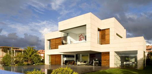Casa unifamiliar en sanxenxo de a cero revista Casas modulares de diseno joaquin torres