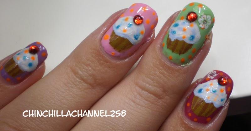 CookingChinchillas: Cupcake Nail Art Design