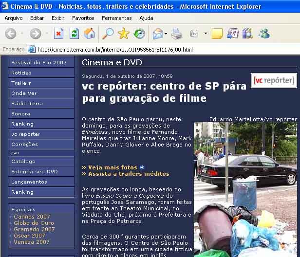 Jornalista Eduardo C M participa do VC REPÓRTER do TERRA