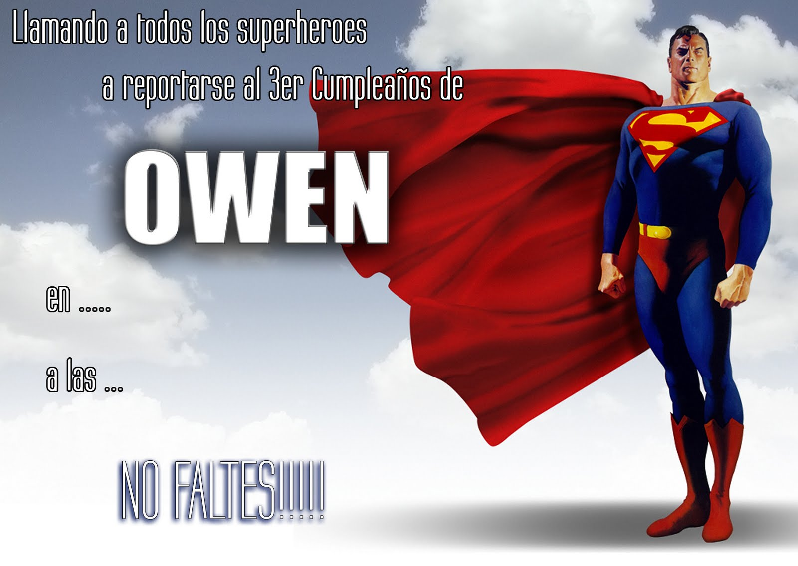 Tarjetas De Cumpleaños De Superman Imagui