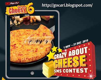 Pizza Hut Contest : Crazy About Cheese SMS Contest ~ GoCari