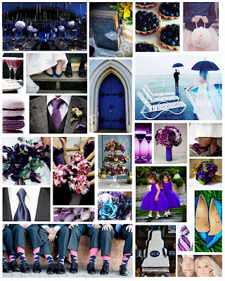 some royal weddings but decided a royal blue royal purple theme would