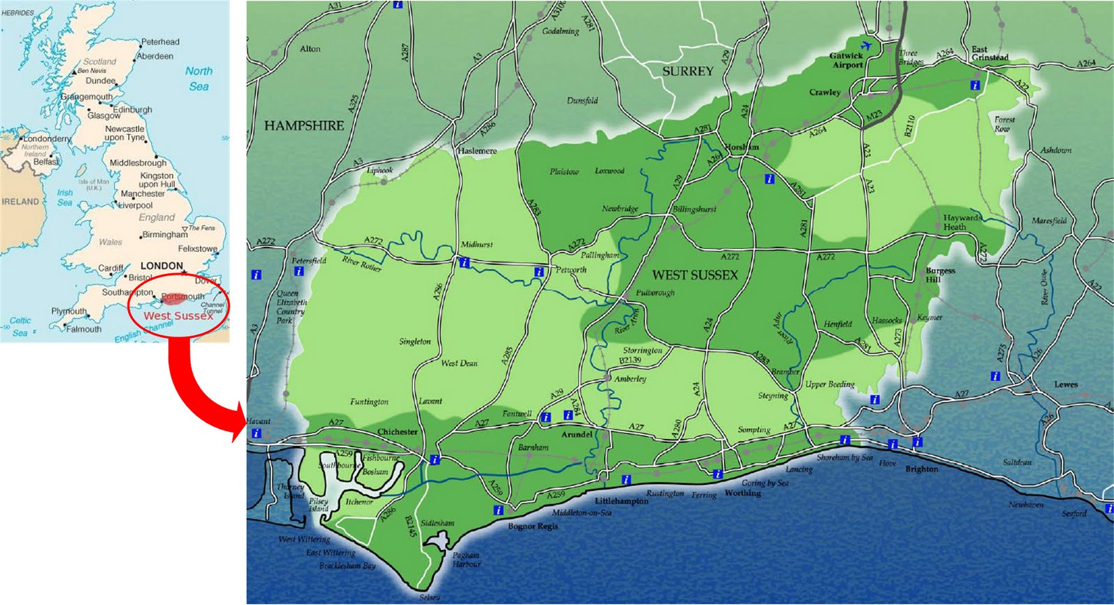 International Study Of Re Regions West Sussex County Council England
