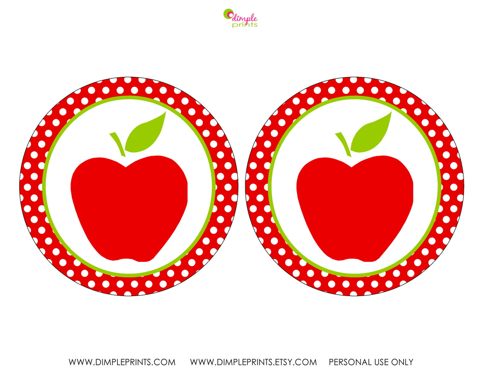 Dimple Prints Free Download Back To School Party Amp Teacher Supplies